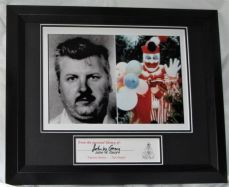 "THE ORIGINAL CLOWN  ""POGO"" JOHN WAYNE GACY Personally signed BOOK MARK"